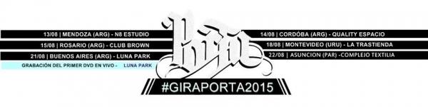 Porta Gira 2015 Latinoamerica