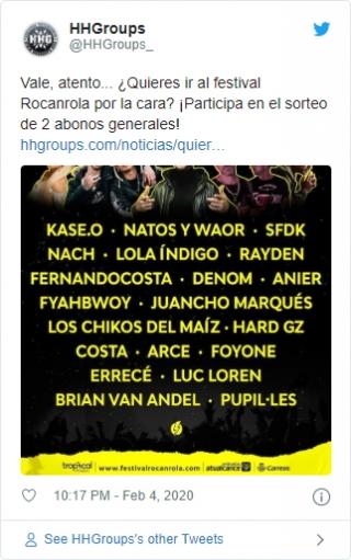 Tweet Rocanrola